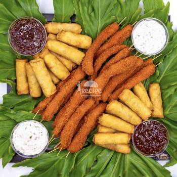 میکس اسپرینگ رول سبزیجات و مرغ سوخاری (40 عددی)