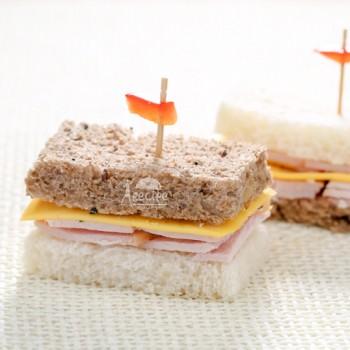 تی ساندویچ بوقلمون و پنیر (10 عددی)
