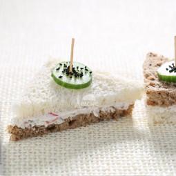 تی ساندویچ  پنیر و سبزیجات (10 عددی)