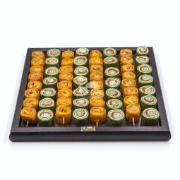 میکس رول ژامبون با پنیر و رول اسفناج و پنیر (60 عددی)